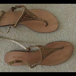 Kate Spade gold metallic sandals
